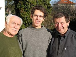 Tři generace Dorůžků: zleva Lubomír, David, Petr