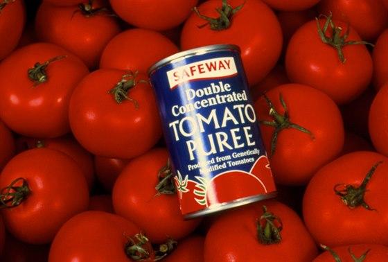 Protlak vyrobený z geneticky modifikovaných rajčat, který se prodával v 90....