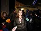 Naděžda Tolokonnikovová po propuštění z věznice v Krasnojarsku (23. prosince...