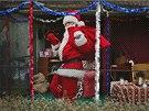 Santa Claus v kleci v pražské zoo (19. prosince 2013)