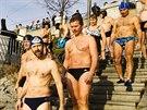Plavci si v Praze připomněli počátky otužování v českých zemích.