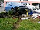 Žena při nehodě nabourala plynovou přípojku.