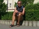 Fotky neznámého turisty v Benešově a dvou náměstí.