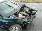 Na silnici R35 u odbočky na obec Čistěves se ve středu dopoledne střetla tři...