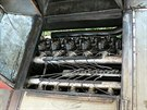 Srdcem motoráčku byl dvanáctiválcový vzduchem chlazený dieselový motor Tatra T...