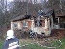 Rodinný dům je po požáru prakticky na odpis.