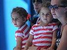 Federerovy dcery chod� na otcovy turnaje.