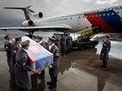 Těla slovenských vojáků zabitých v Afghánistánu přivezl vládní speciál z...