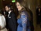 Těhotná švédská princezna Madeleine (19. prosince 2013)