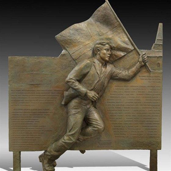 Památník hrdinům norského odboje od sochařky Kirsten Kokkinové