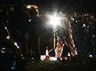 Policie na místě nálezu těla v pražském Hloubětíně