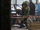V�buch trolejbusu ve Volgogradu (30. prosince 2013)