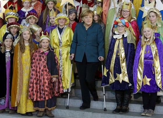 Merkelová si nenechala ujít tradiční přijetí Třech králů v berlínském...