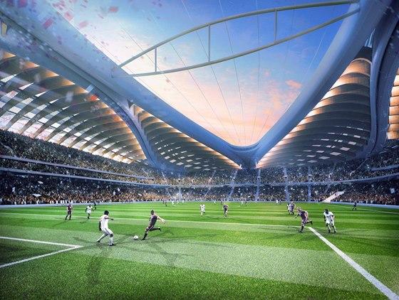 Vizualizace: Na stadion a do hlediště bude vháněn studený vzduch, aby zde