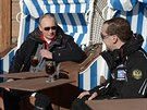Rusk� prezident Vladimir Putin a premi�r Dmitrij Medved�v v So�i (4. ledna 2014)