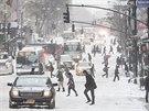 Zapadan� P�t� Avenue v New Yorku (4. ledna 2014)
