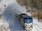 Závěje komplikují také dopravu na americké železnici (4. ledna 2014)