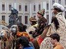 Tříkrálový průvod Hradčanském náměstí (5. ledna 2013)