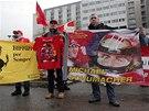 JSME S TEBOU. Příznivci Michaela Schumachera vyjádřili závodníkovi podporu před...