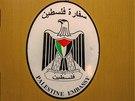 Palestinský znak na domě, kde výbuch zabil velvyslance, Praha - Suchdol