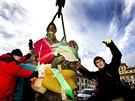 Začala rekonstrukce Mariánského morového sloupu na Hradčanském náměstí. Jako