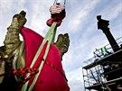 Začala rekonstrukce Mariánského morového sloupu na Hradčanském náměstí v Praze.