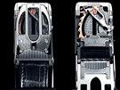 Přezka bezpečnostního pásku je společným výrobkem Bugatti a ženevského...