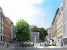 Vizualizace podoby nových budov v ulici Kováků na pražském Smíchově.