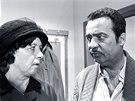 Here�ka V�ra Tich�nkov� a herec Vladim�r Men��k p�i nat��en� seri�lu T�icet