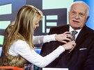 Exprezident Václav Klaus před rozhovorem na TV Prima (31. prosince 2013)