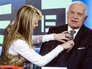 Exprezident V�clav Klaus p�ed rozhovorem na TV Prima (31. prosince 2013)