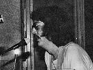 Koncert skupiny Um�l� hmota II v hostinci Na Star� po�t� v roce 1977 (z knihy