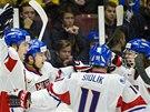 GÓLOVÁ RADOST. Jásot české hokejové dvacítky ve čtvrtfinále MS proti Finsku.