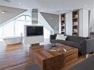 Obývacímu prostoru vévodí sedací souprava Greta (design Ivana Dombková)