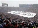 Michigan Stadium v Ann Arbor, dějiště utkání  Winter Classic  mezi Detroitem a...