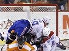 Valná hromada na které se ocitli Tomáš Plekanec a Andrej Markov z Montrealu, a...