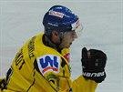 Marek Loskot z Ústí nad Labem se raduje z gólu.
