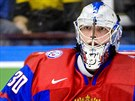 Ruský juniorský gólman Andrej Vasilevskij