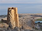 Výhled na Mrtvé moře od pramene Ein Gedi Spring