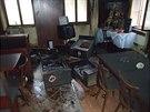 Požár v restauraci v Horské ulici v Trutnově někdo založil úmyslně (1.1.2014).