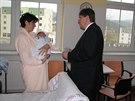 První dítě narozené v roce 2014 v Královéhradeckém kraji je Matěj Varadi z...