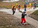 Na Nový rok 2014 čekala na lyžaře v Janských Lázních mlha a 30 centimetrů...