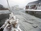 Zaplavená ulice v pobřežním městě Scituate ve státě Massachusetts (3. ledna...