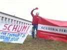 Fanoušci oslavili Schumacherovy narozeniny