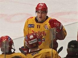 VYSOKÁ VÝHRA. Poslední zápas Ujčíkovy kariéry skončil vysokou výhrou Jihlavy 6:0 nad Šumperkem.