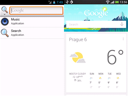 Vyhled�v�n� (Search) AOSP a Google Search (Google Now)