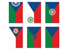 Finální podobu nové česko-romské vlajky bylo možné volit ze sedmi návrhů, které