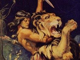 Obálka jednoho z prvních dílů sešitových románů o Tarzanovi