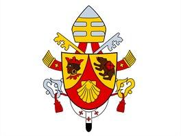 Znak papeže Benedikta XVI., vytvořil jej kardinál di Montezemolo.