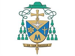 Biskupský znak biskupa Jana Vokála navrhl kardinál di Montezemolo.